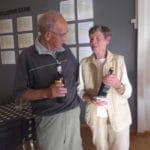 A rækken 3. præmier - Inge og Henning Jensen med 35 point