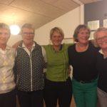Den nye bestyrelse: Bodil Olesen, Hanne Brink, Helen Møller Hansen, Charlotte Viktor og Hanne Revsbech